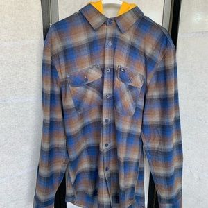 Brixton hooded flannel